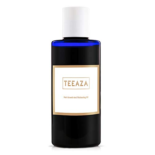 Teeaza Organic Pumpkin Seed Hair Oil with Natural Vitamin E.Hair Growth Serum, DHT Blocker, Hair Loss Treatment for Women and Men. Follicle Hair Thickener and Ease Frizz Hair Care (50 ML)