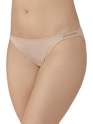 Vanity Fair Women's Illumination String Bikini Panties (Regular & Plus, Plus Size-Rose Beige, 9