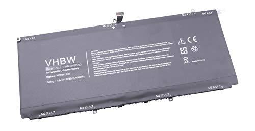 vhbw Batterie Compatible avec HP Spectre 13-3000ED Ultrabook, 13-3000EE, 13-3000EE Ultrabook, 13-3000ed Laptop (6750mAh, 7,5V, Li-Polymère, Noir)