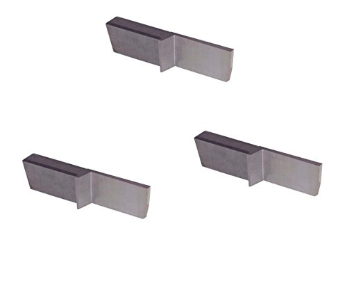 THINBIT 3 Pack LGPT045D5R7R 'L' Series, Uncoated Carbide, Parting Insert for Non-Ferrous Alloys, Aluminium and Plastic Without Interrupted Cuts