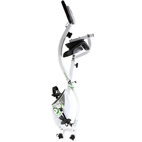 Tecnovita by BH Back fit YF91.Vélo d'appartement. avec Dossier. Volant d'inertie équivalent à 8kg. Pliable. Système de Frein magnétique. Console LCD rétro-éclairée. roulettes de Transport. Blanc