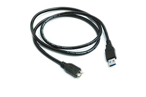 Kingfisher-Technologie, 2m, USB-Datenkabel, Schwarz, Adapter (22AWG) für Hitachi HGST Touro/Externe Festplatte