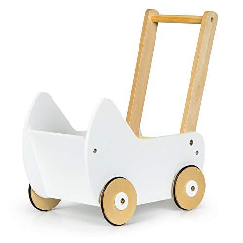Holzpuppenwagen Puppenwagen aus Holz Lauflernwagen Walker ECOTOYS