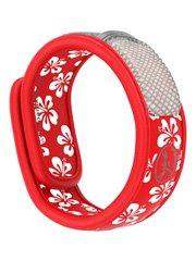 Parakito Bracelet Anti-Moustique - Couleur: Rouge-Fleur blanche