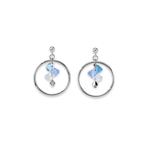 Coeur de Lion Pendientes para mujer, color azul claro 5002/21-0720