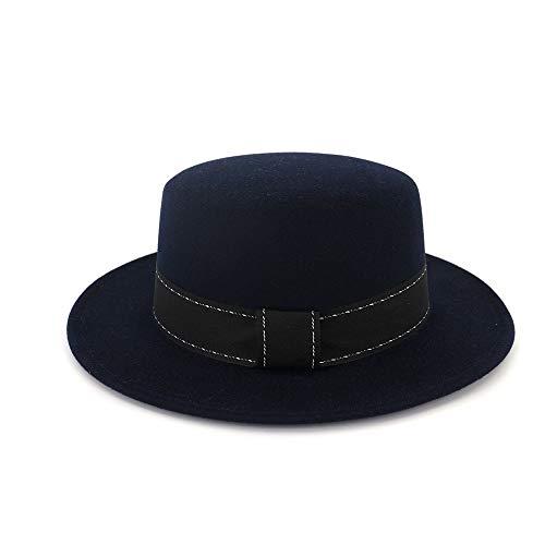 Wolvilten Bowler hoed vilt hoeden kinderen hoed jurk hoeden verjaardag cadeau Herfst mode 56-58 Blauw