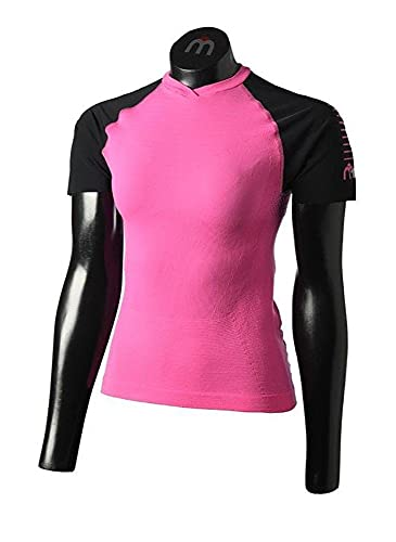Mico T-shirt running femme col en V rose 3