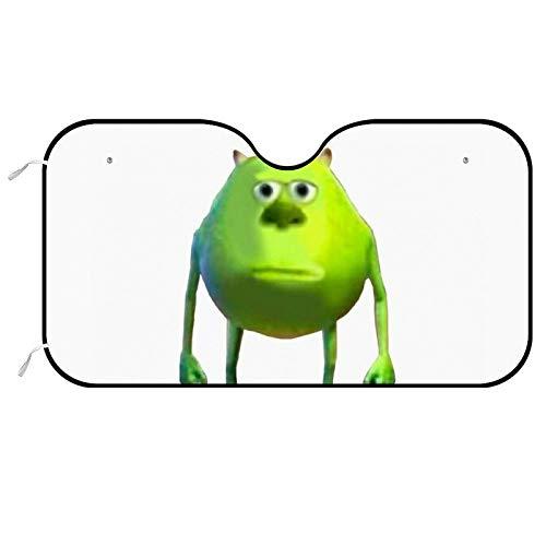 Mike Wazowski Meme Monsters Auto Windshield Sunshade Car Sunshade UV Protect Foldable Auto Window Sunshade Universal Fit for Car Auto Sedan Truck SUV