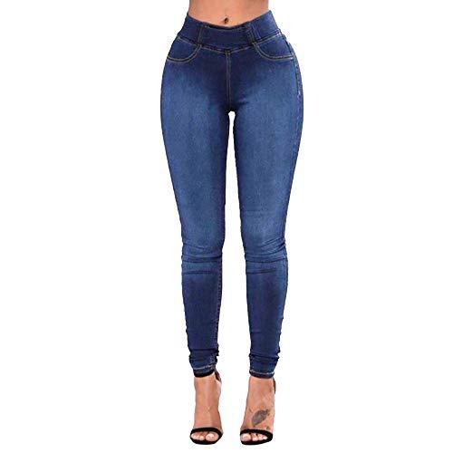 K-Youth® Mujer Vaqueros Ceñidos de Tiro Alto Pantalón para Mujer Retro Pantalones Vaqueros Mujer Talla Grande Skinny Elástico Pantalones Mezclilla Mujer Slim Jeans de Ajustado Mujeres Leggings