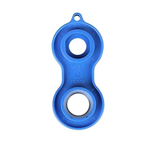 Universal Perlatorschlüssel für M20x1, M22x1, M24x1 und M28x1 Mischdüsen, blau