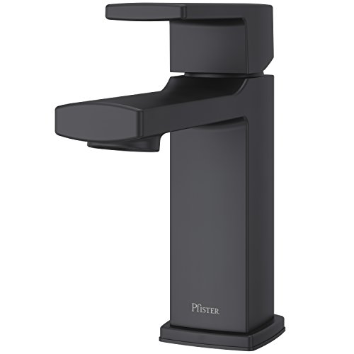Pfister LG42-DAPB Deckard Single Control 4' Centerset Bathroom Faucet with Push & Seal, Matte Black