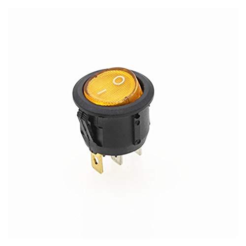 YSJSPKK Interruptor basculante ON/Off Interruptor oscilante Ronda de Puntos de luz LED Iluminado del Tablero de Instrumentos de la rociada del Interruptor Van 12V 220V Full Circle