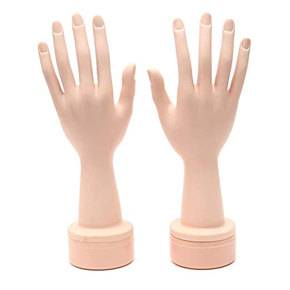 保証動機付ける毒液ネイル練習用ハンドマネキン(両手) ハンドマネキン 柔軟性 ネイル練習用 撮影用 ネイルチップ差し込み式