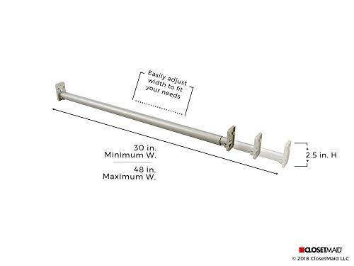 ClosetMaid SuiteSymphony Starter Tower Kit, Expandable Closet Rod, Satin Nickel