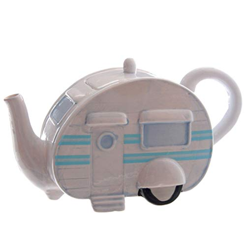 Giftbrit 8541935848 Ceramic Caravan Decorative Teapot