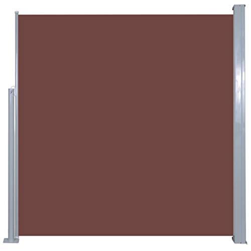 Gecheer Seitenmarkise Ausziehbare Seitenwandmarkise Seitenrollo Sichtschutz, Sonnenschutz & Windschutz 300 x 140 cm (B x H)