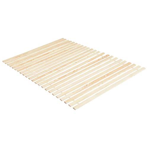 Lasamot Base de tablones de Pino Moderna y práctica, Base de Lamas del Dormitorio 90 x 200 cm-con 23 Lamas 90 x 5 x 1.8 cm