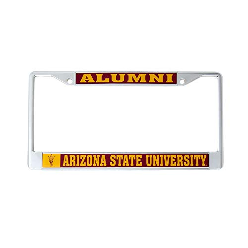 Desert Cactus Arizona State University Alumni License Plate Frame For Front Back of Car Officially Licensed