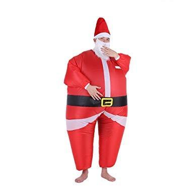 Asitlf Disfraz Inflable Traje Inflable de Papá Noel, Fiesta de Disfraces de Halloween Cosplay