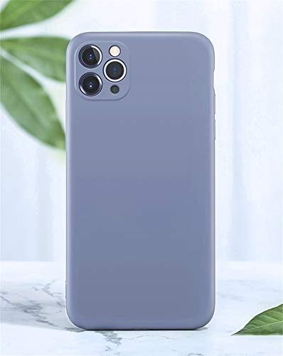 Bakicey - Carcasa para iPhone 11 Pro (5,8 pulgadas), silicona líquida, fina, suave, TPU, antigolpes, color gris