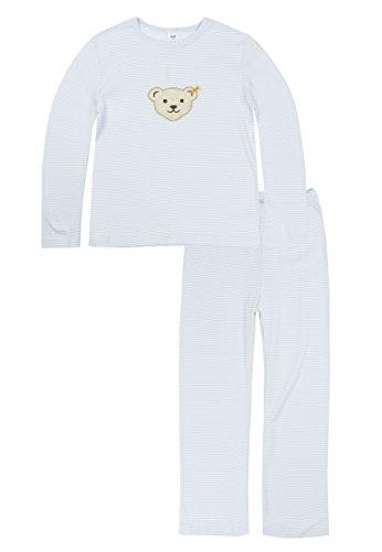 Steiff Steiff Mädchen Schlafanzug, Blau (Baby Blue 3023), 18-24 Monate (Herstellergröße:92)