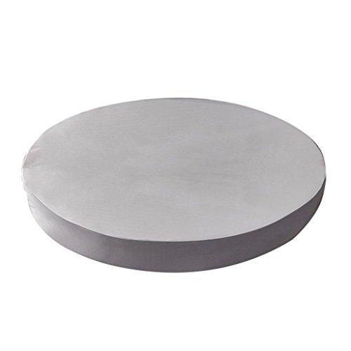HomeDecTime 220cm Spannbettlaken rund Bettlaken für Rundbett - Silber grau