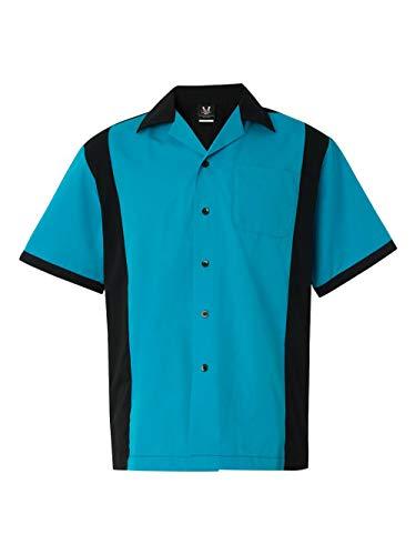 Hilton HP2243 Men's Cruiser Bowling Shirt Turquoise XL