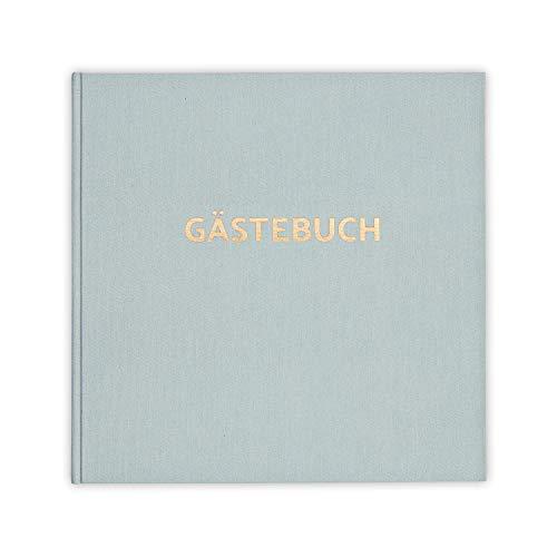 bigdaygraphix Gästebuch ohne Fragen - quadratisch 21x21cm mit Rosegold-Folie - Leinen - für...