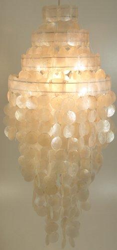 Muschel Leuchte Sakawa 90cm / Leuchten & Sterne / Variante: Farbe: weiß