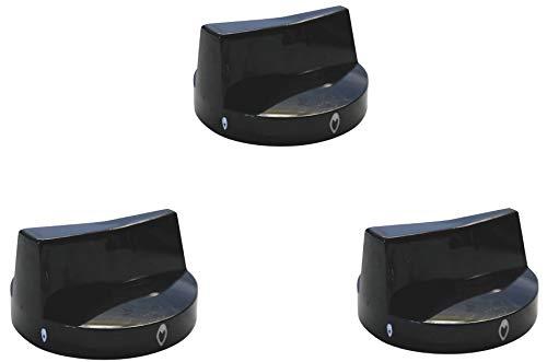 YOURGRILL Premium 3er Set Knebel K&F Drehknebel Knebel für Gasgrills Gasbräter Gastrogrill halbseitig eingelassen auf Gashahn mit 8 mm Durchmesser Qualitätsersatzteil im günstigem 3 Pack