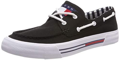 Hilfiger Denim Herren HYBRID City Sneaker, Schwarz (Black 990), 43 EU