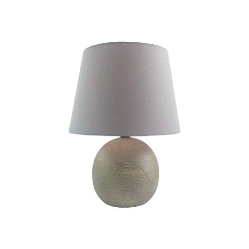 ZONS Lampe en Bois 23x23xH30cm Gris
