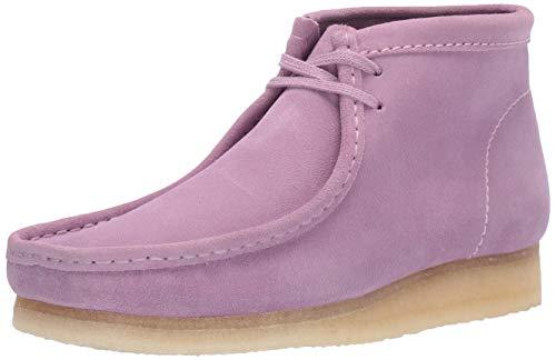 Clarks Men's Wallabee Boot Chukka, Lavender Suede, 11 M US