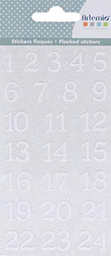 Artemio Autocollant, Vert Mousse Blanc, 8 x 17 cm