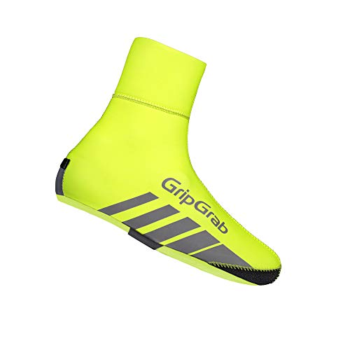 GripGrab Unisex– Erwachsene RaceThermo Winter Rennrad Neopren Überschuhe Warme Wasserdichte Winddichte Radsport Überzieher Shoe Cover Fahrrad, GelbHi-Vis, (42/43)