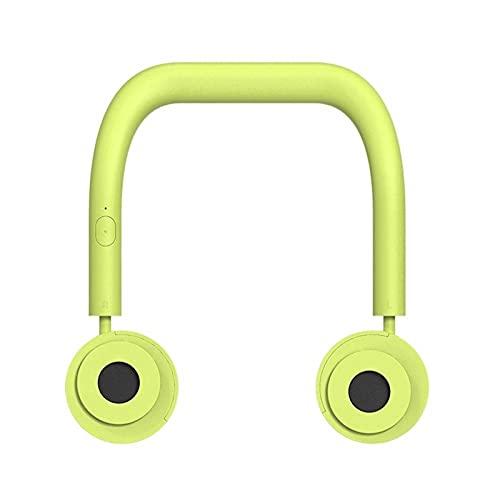 UOOD Ventilador de mano, ventilador personal sin mano, mini cuello de colgando doble ventilador, ventilador recargable USB portátil, 3 veces funcionando, plegable, para hacer ejercicio, montañas de es