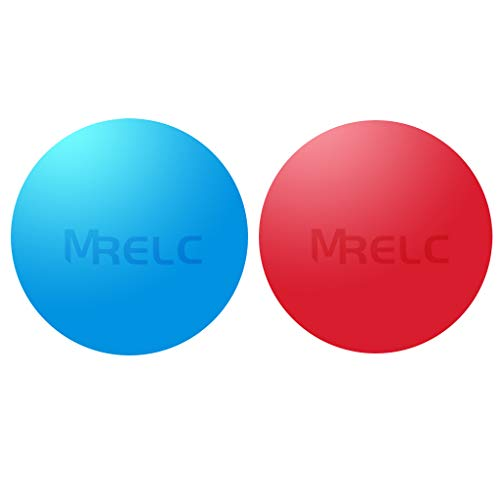 MRELC Massage Lacrosse Balls for Myofascial Release of Shoulders, Neck, Back, Foot, Body, Deep Tissues, Trigger Point Therapy, Muscle Knots, and Yoga Therapy, 2 Packs (Red and Blue)