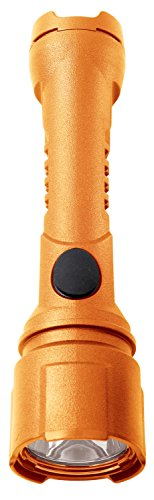 Bright Star Razor Work Safe LED Flashlight – Intrinsically Safe and Waterproof Torch for Industrial and Emergency Use – Made in USA – Orange