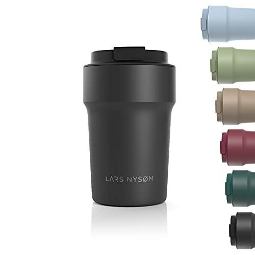 LARS NYSØM Taza térmica café para llevar 380ml | Termo Café para llevar sin BPA de 0,38 litros con aislante | Travel mug de acero inoxidable a prueba de fugas para el café y el té
