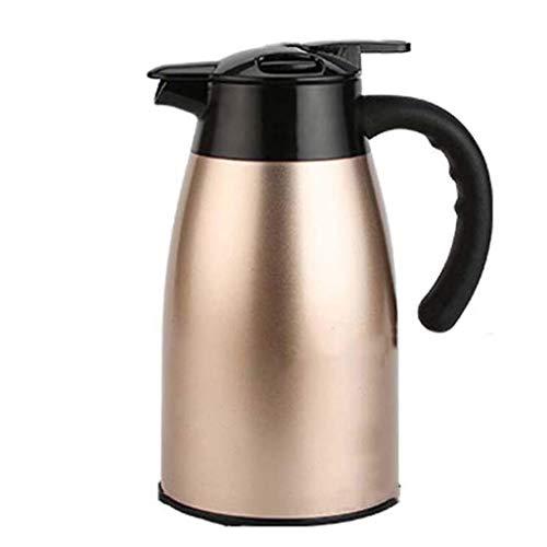 FenRui Thermo-Kaffeekanne aus Edelstahl - doppelwandige vakuumisolierte Karaffe hitzebeständigem Griff für Zuhause, Büro oder Party, 2.2L