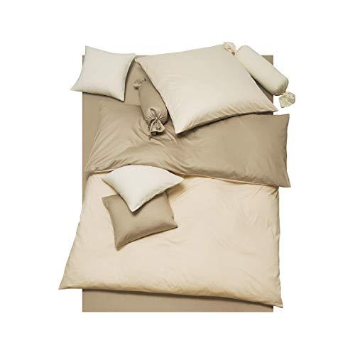 DORIS MEYER Interlock-Jersey Wendebettwäsche Milano Taupe/beige 1 Bettbezug 135 x 200 cm + 1 Kissenbezug 80 x 80 cm