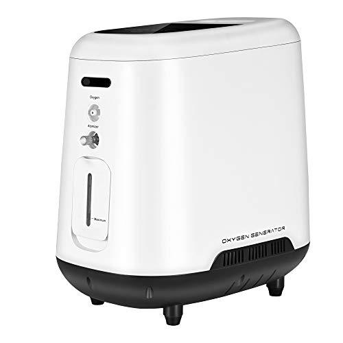 TOPQSC Generador de Concentrador de Oxígeno Portátil, Purificador de Aire Doméstico de La Máquina de Oxígeno 1-6L / min para uso Doméstico de Automóviles de Viaje