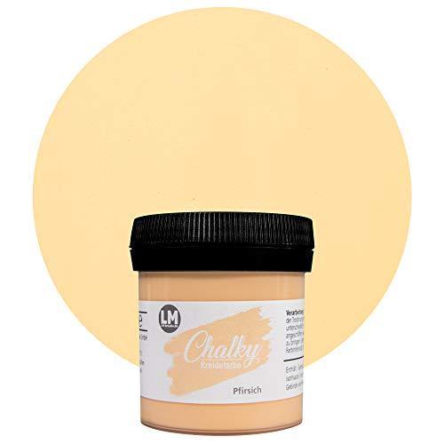 LM-Kreativ Chalky Kreidefarbe 80ml (Pfirsich) - - Finish Kreide-Farbe für einen Vintage/Shabby-Chic-Look. Die Kreidefarben/Kalkfarbe sind auch als Holzfarbe verwendbar & trocken matt auf
