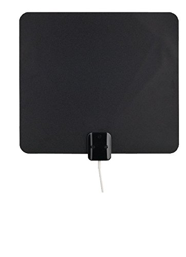 RCA Ultra-Thin, Multi-Directional, Indoor Amplified HDTV Antenna with 60 Mile Range