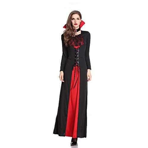 TcooLPE Halloween Cosplay Hexenspiel Anzug, Hexenkleid Hexe Hexe Nachtclub Maskerade Kostüm Hexe Model Performance Kostüm Schwarz Geisteranzug (Size : L)