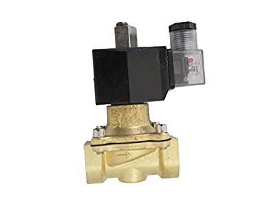 3/4 inch NORMALLY OPEN NO 110V-120V AC VAC Brass Solenoid Valve NPT by CARBEX