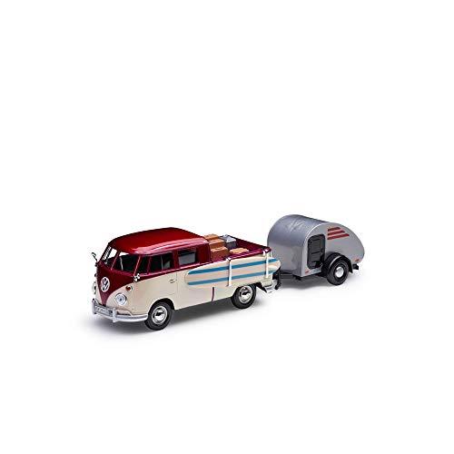 Volkswagen 211099303BL9 Maqueta de Coche T1 Pickup en Miniatura 1:24 Bus Bulli Tipo 2, Color Beige