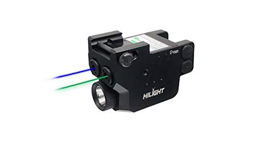 HiLight P3BGL Blue Green Laser Sight Flashlight for Pistols with Micro USB Rechargeable Battery