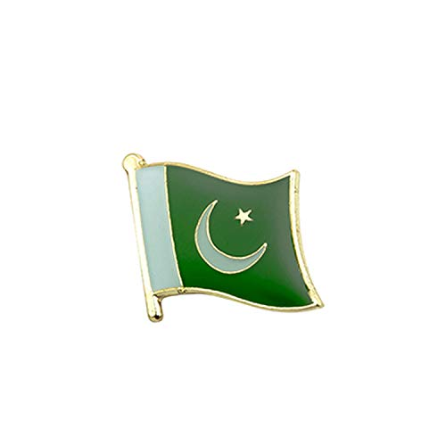 FUNNY1 Pakistan Vlag Lapel Pin Badges voor Kleding in Patches Rozety Icon Rugzak,-0025