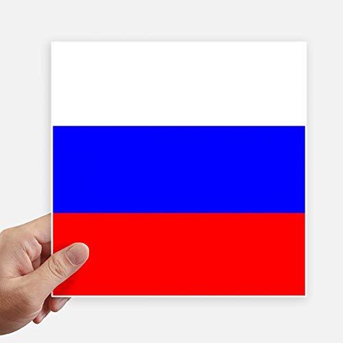 DIYthinker Drapeau National Russie Europe Country Square Autocollants 20CM Mur Valise pour Ordinateur Portable Motobike Decal 4Pcs 20Cm X 20Cm Multicolor